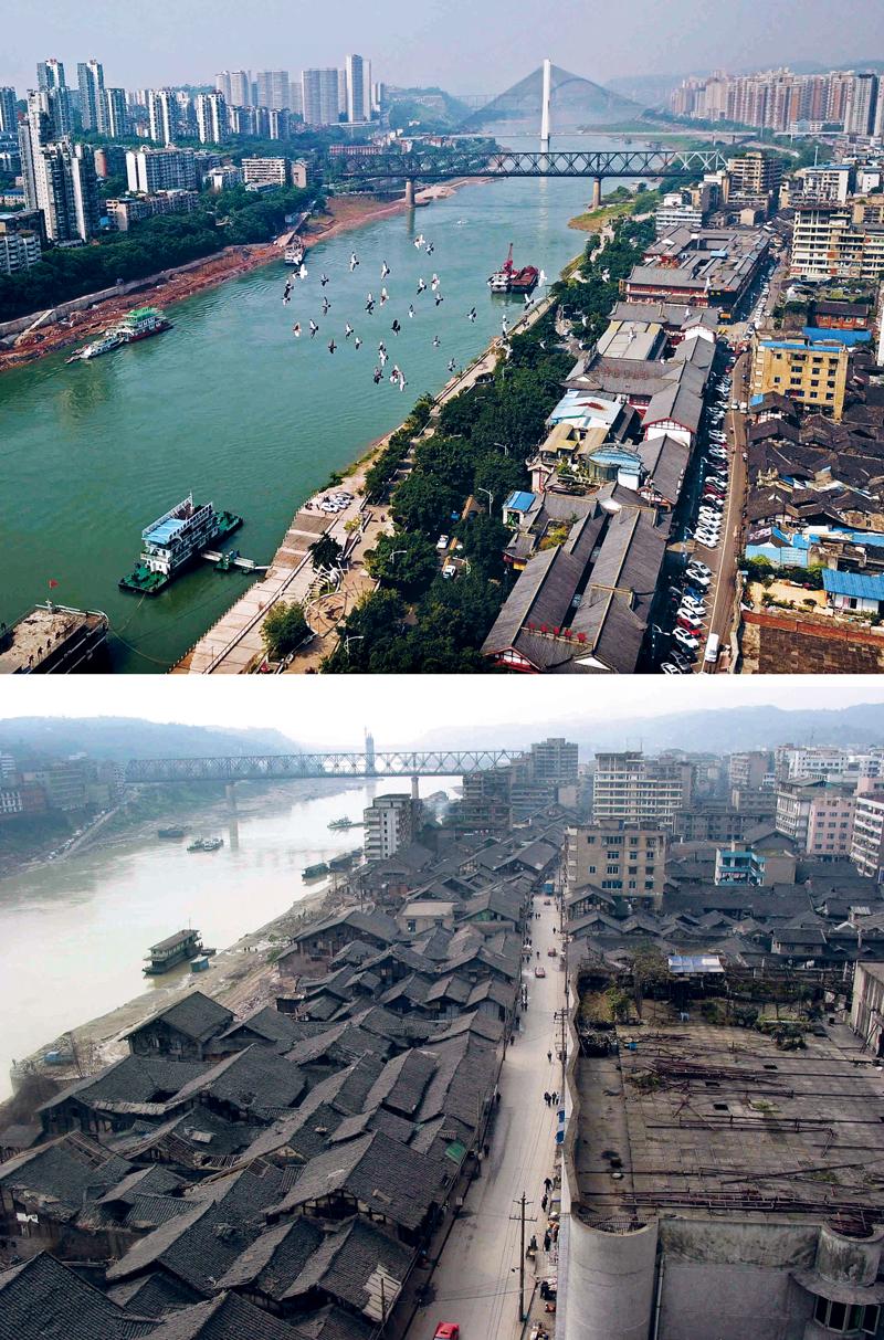 """四川省宜宾市有""""万里长江第一城""""之称,金沙江,岷江在这里汇合,在长江"""