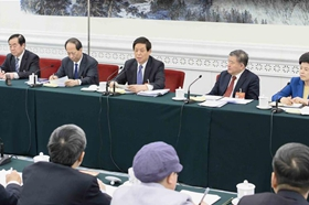 Chinese leaders attend panel deliberations at NPC's annual session