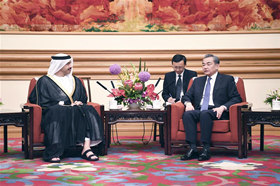 Chinese state councilor meets UAE FM