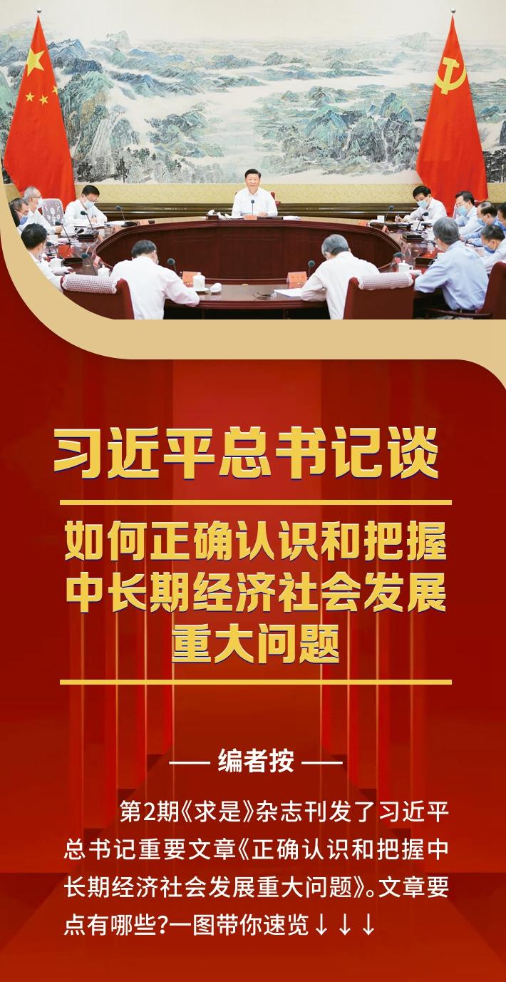 习近平总书记谈如何正确认识和把握中长期经济社会发展重大问题